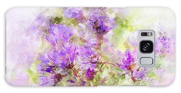 Wild Flowers In The Fall Watercolor Galaxy Case