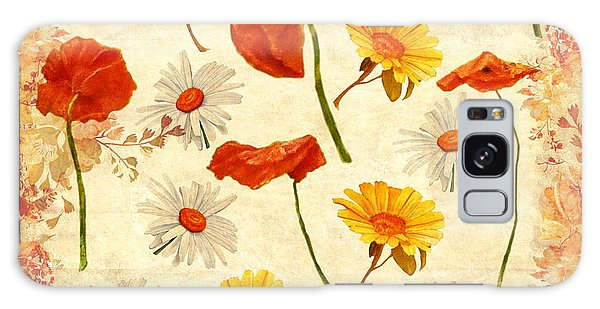 Wild Flowers Vintage Galaxy Case