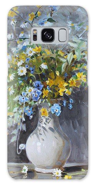 Wild Flowers Galaxy Case by Ylli Haruni