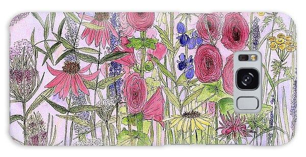 Wild Garden Flowers Galaxy Case