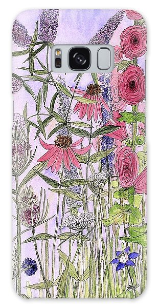 Wild Garden Flowers Galaxy Case