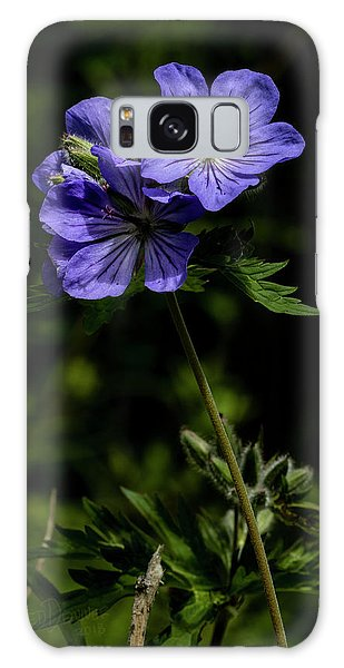 Galaxy Case featuring the photograph Wild Geraniums by Fred Denner
