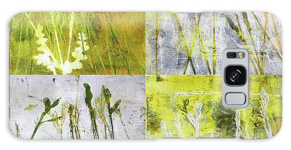 Central America Galaxy Case - Wild Grass Collage 2 by Nancy Merkle