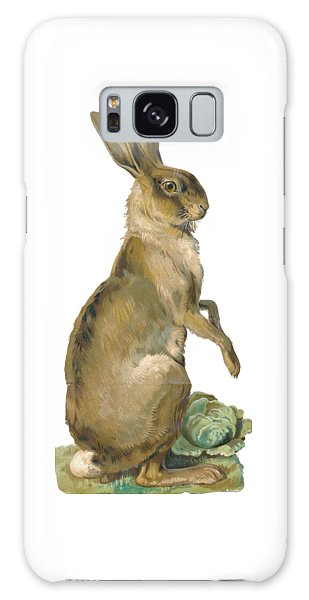 Galaxy Case featuring the digital art Wild Hare by ReInVintaged