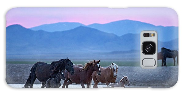 Galaxy Case featuring the photograph Wild Horse Sunrise by Wesley Aston