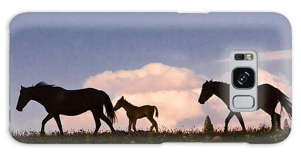 Wild Horses And Clouds Galaxy Case
