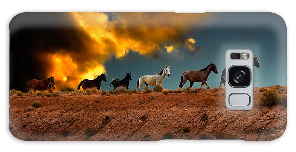 Wild Horses At Sunset Galaxy Case