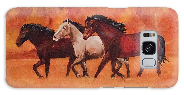 Wild Horses Galaxy Case by Ellen Canfield