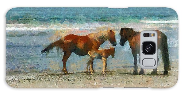 Wild Horses Of The Outer Banks Galaxy Case