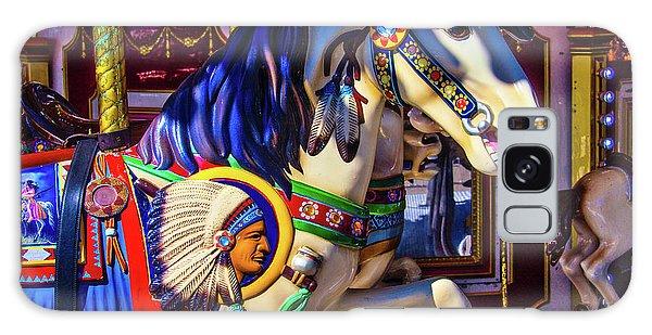 County Fair Galaxy Case - Wild Indian Horse by Garry Gay