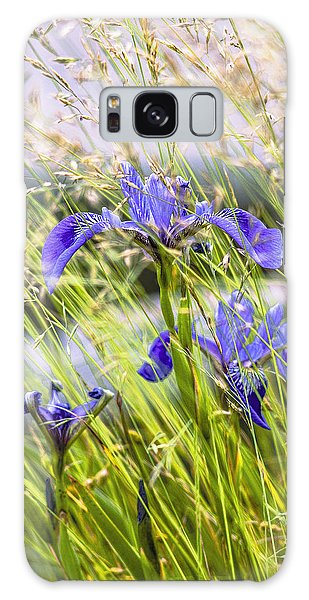 Wild Irises Galaxy Case by Marty Saccone