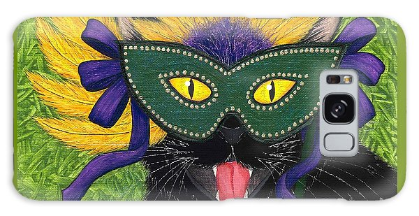 Wild Mardi Gras Cat Galaxy Case