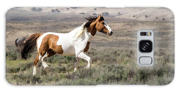 Wild Mustang Stallion On The Move In Sand Wash Basin Galaxy Case
