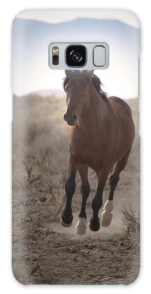 Wild Mustang Stallion Running Galaxy Case
