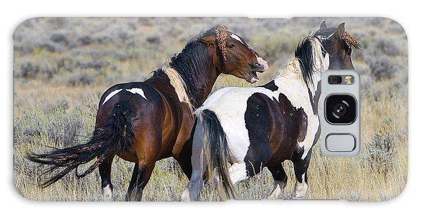 Wild Mustangs Playing Galaxy Case