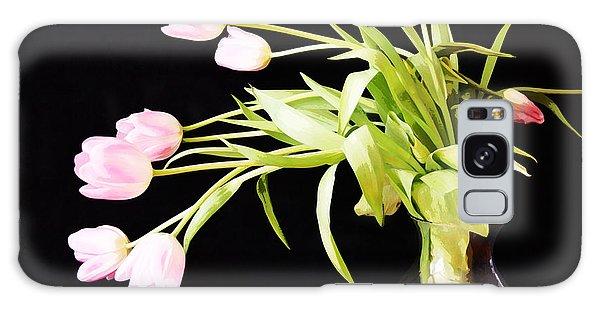 Wild Pink Tulips Galaxy Case