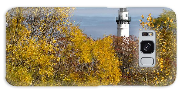 Wind Point Lighthouse In Fall Galaxy Case