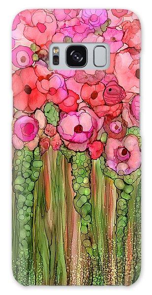 Pink Flower Galaxy Case - Wild Poppy Garden - Pink by Carol Cavalaris