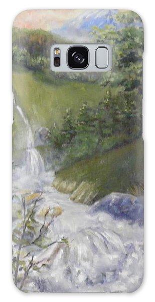 Wild River Below Mount Hood Galaxy Case