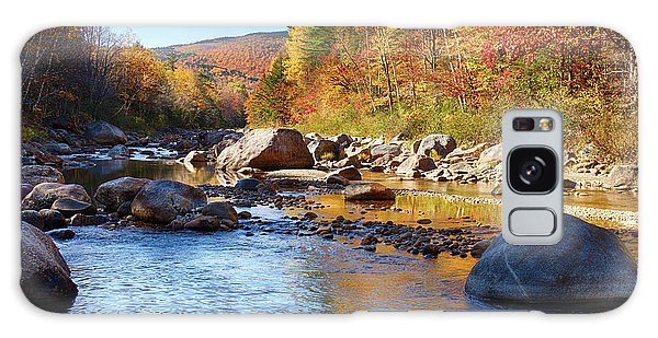Wild River View Of Scenic Maine Colors Galaxy Case