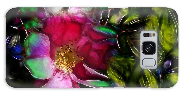 Wild Rose - Colors Galaxy Case by Stuart Turnbull