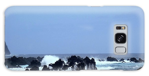 Wild Sea In Madeira Galaxy Case