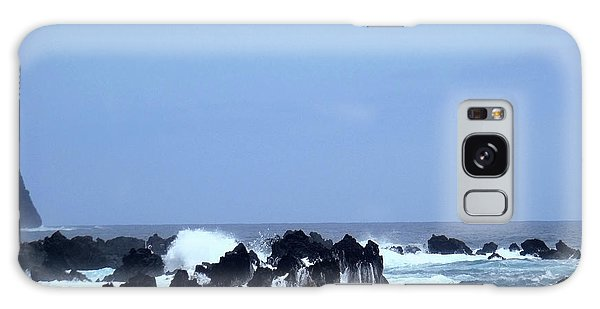 Wild Sea In Madeira Galaxy Case