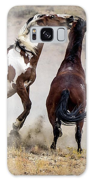 Wild Stallion Battle - Picasso And Dragon Galaxy Case by Nadja Rider