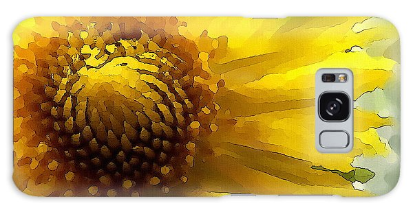 Galaxy Case featuring the digital art Wild Sunflower Up Close by Shelli Fitzpatrick