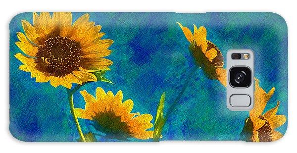 Wild Sunflowers Singing Galaxy Case