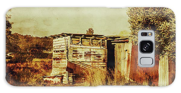 Farmland Galaxy Case - Wild West Australian Barn by Jorgo Photography - Wall Art Gallery