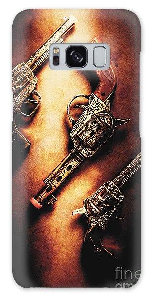 Guns Galaxy Case - Wild West Cap Guns by Jorgo Photography - Wall Art Gallery