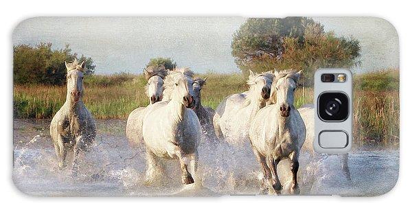 Wild White Horses Of The Camargue Vl Galaxy Case