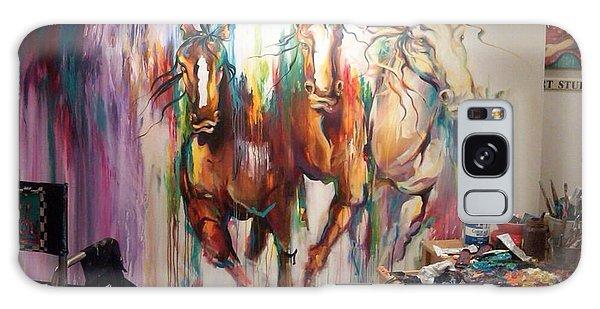 Wild Wild Horses Galaxy Case