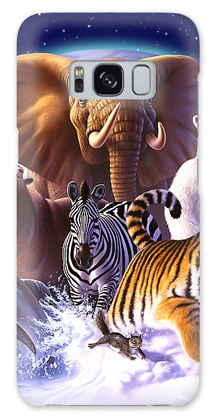 Hippopotamus Galaxy S8 Case - Wild World by Jerry LoFaro