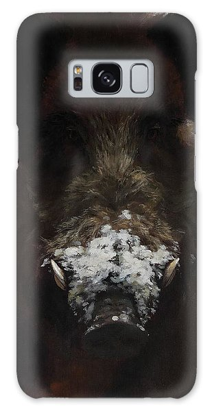 Wildboar With Snowy Snout Galaxy Case