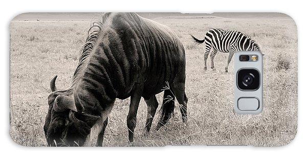 Wildebeest And Zebra Galaxy Case