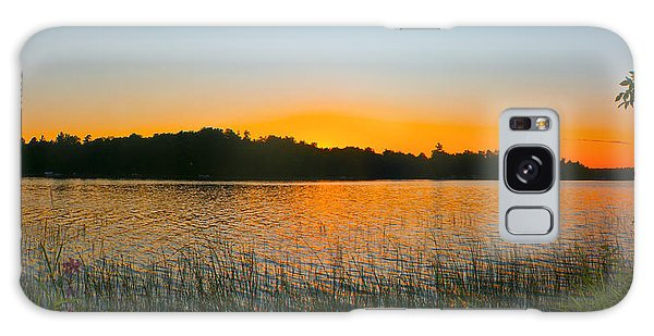 Wilderness Point Sunset Panorama Galaxy Case