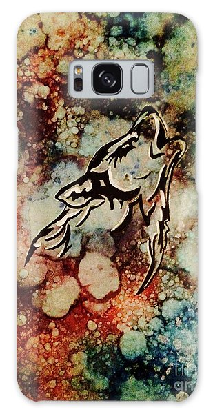 Galaxy Case featuring the painting Wilderness Warrior by Denise Tomasura