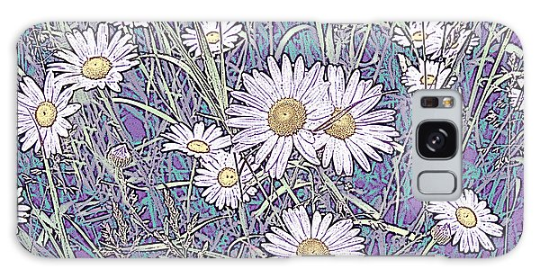 Wildflower Daisies In Field Of Purple And Teal Galaxy Case