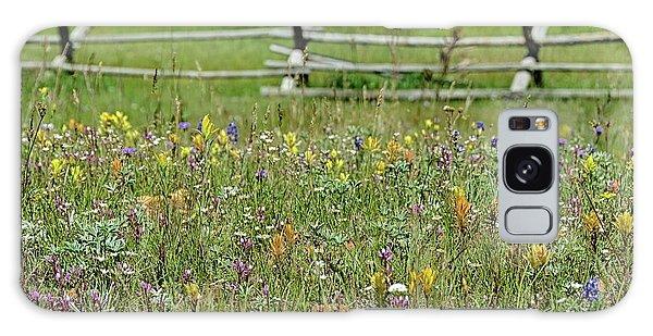 Wildflower Fence Galaxy Case