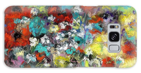 Wildflower Field Galaxy Case by Frances Marino