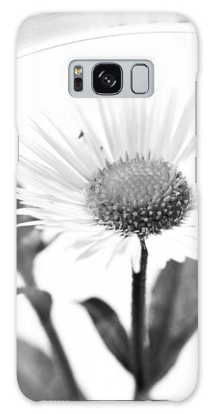 Wildflower In A Wine Glass Black And White Galaxy Case