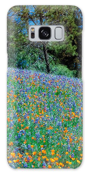Galaxy Case featuring the photograph Wildflower Meadow - Figueroa Mountains California by Ram Vasudev