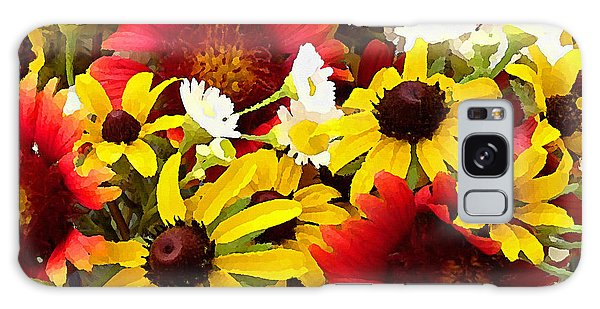 Galaxy Case featuring the digital art Wildflower Riot by Shelli Fitzpatrick