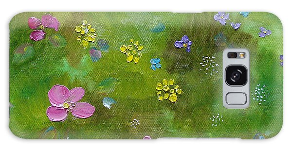 Galaxy Case featuring the painting Wildflower Support by Judith Rhue