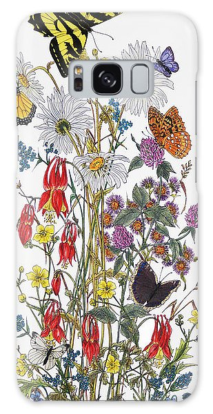 Wildflowers And Butterflies Of The Valley Galaxy Case