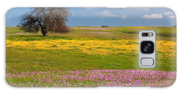 Wildflowers And Oak Tree - Spring In Central California Galaxy Case by Ram Vasudev