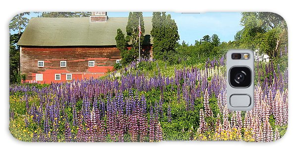 Wildflowers And Red Barn Galaxy Case by Roupen  Baker