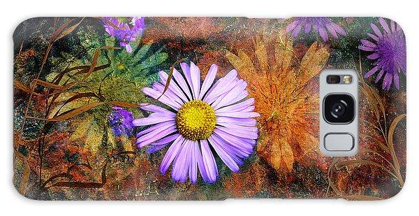 Wildflowers Galaxy Case by Ed Hall
